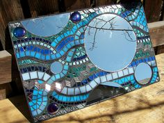Mosaic Garden Mirror by Glass Garden Creations / Sharon Kelly, via Flickr