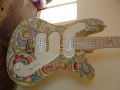 Custom Guitar - Vintage Drapery Finish.