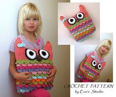 Crochet owl pillow pattern, PDF crochet pattern, owl pillow, owl soft toy pattern DIY tutorial on Etsy, $4.90