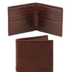 italiaanse lederen portemonnee heeft 2 compartimenten 8 credit card pockets verder nog 2 vakken Twee vakken voor papiergeld - € 70,00
