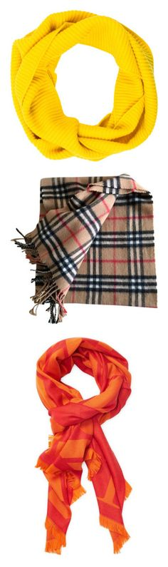 """""""Top-Notch Scarves"""" by imperialfamilyfans ❤ liked on Polyvore featuring accessories, scarves, yellow, cashmere shawls, infinity scarf, tube scarf, circle scarves, loop scarves, other colour and burberry scarves"""