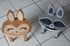 Kid's Personalized Animal Stools by HillDesignCoO on Etsy