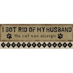 Allergic Husband Canvas Art - Jennifer Pugh (8 x 24) Read more in http://natureandhealth.net/