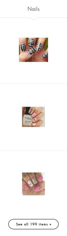 """Nails"" by teenwolfmoosic on Polyvore featuring nail, nails, beauty products, nail care, nail polish, nail art, nail treatments, bath & beauty, makeup & cosmetics and silver"
