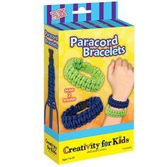 Paracord Bracelets - Weave trendy paracord into 2 cool survivor bracelets. #creativityforkids