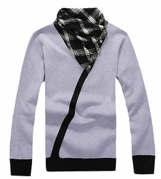 High Neck Vogue Slim Long Sleeve Men Light Grey Kitting Sweater One Size @SJ36972lg