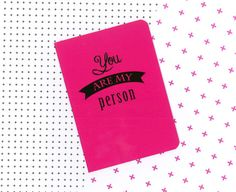 Items similar to You are my person pink notebook - Grey's anatomy quote journal on Etsy