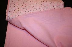 GREAT BABY SHOWER GIFT - Baby Girl Pink Polka Dot Flannel Blanket by Gammysshop on Etsy, $15.00