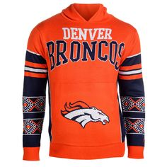 Denver Broncos Big Logo Hooded Sweatshirt from UglyTeams