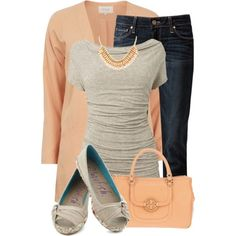 """Peach Fall"" by kswirsding on Polyvore"