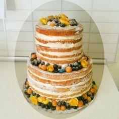 Wedding naked cake #aidinabakeacake