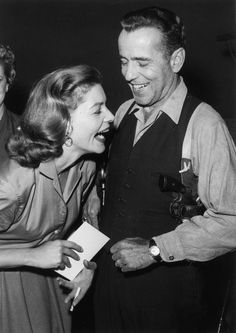 Humphrey Bogart Lauren Bacall Wedding | Lauren Bacall and Humphrey Bogart on the set of The petrified forest ...