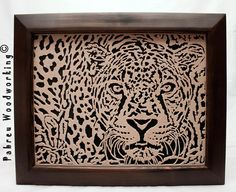 Scroll Saw Portrait  Jaguar by PabreuWoodworking on Etsy, €65.00  Pattern made by me