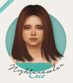 NIGHTCRAWLER COCO HAIR KIDS AND TODDLER at Simiracle • Sims 4 Updates