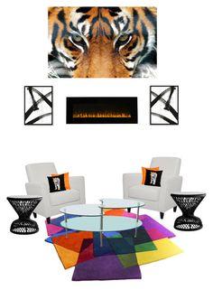 """Lobby or Living Room"" by segura-priscilla on Polyvore featuring interior, interiors, interior design, home, home decor, interior decorating, Walker Edison, West Elm, The Northwest Company and Madura"