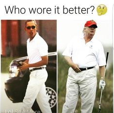 Crying Laughing for obvious reasons!! But look at Our President Obama!! He's so Handsome, Fit and Happy since he left the Unbridled Hatred Republican/Trumpers threw at him and his Family for 8 years!! Now look at the Creature we have now and the Damage he's done in 1 Month!!!