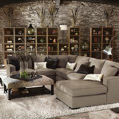 "Dune 139"" Three Piece Upholstered Left Sectional In Driscoll Marble - for bonus room"