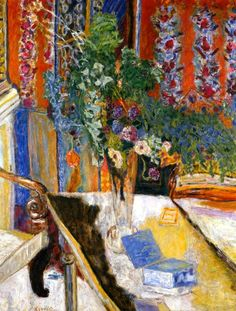 Pierre Bonnard (French, 1867-1947). Interior with Flowers. 1919.