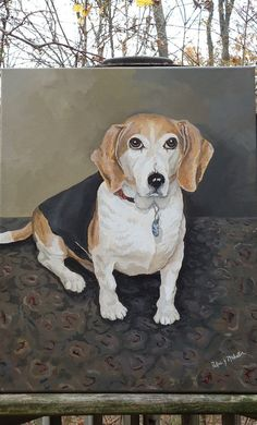 Dog Portrait Beagle Portrait Pet Portraits Family by PatMcWhorter