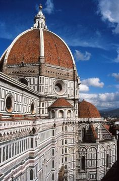 The deep blue sky behind the Duomo. This picture was shot from the Campanile. Florence, Italy | Picfari.com