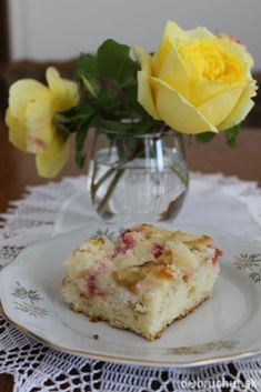 Super rebarborový Sweet Recipes, Mashed Potatoes, French Toast, Pudding, Cooking, Breakfast, Ethnic Recipes, Desserts, Food