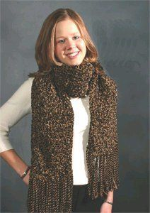 The thick textured scarf is a great free crochet pattern for a beginning crocheter. This scarf is easy to make and its thickness will keep you warm all winter long.
