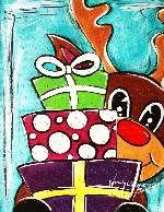 Christmas Reindeer and Presents
