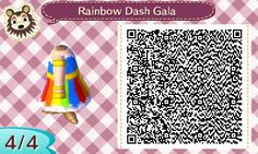 Another one for the My Little Pony fans~ Rainbow Dash's Grand Galloping Gala dress. [See more of my designs here!]