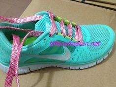$49.99 Cheap and cute Hot Pink Lace Nike Free Run 3 Womens Tiffany Blue Silver