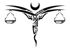 Libra Scales Tattoo Design Polynesian Tribal Art | Just Free Image Download