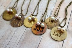 Miner Tag Necklace, Tool Tag Necklace, Rustic Wedding, Coal Miner, Brass Number, Number Jewelry, Vintage, Upcycled Recycled Repurposed on Etsy, $20.00