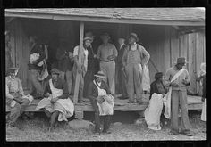 1935 Cotton pickers at 6:30am, near Little Rock, in Pulaski County, Arkansas (on the Alexander plantation)