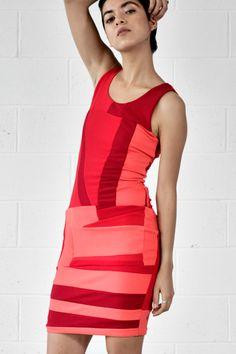 zero waste daniel red tank dress