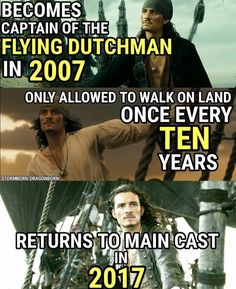 Pirates of the Caribbean! Will Turner. :) Captain Of the Flying Dutchman. The Pirates, Pirates Of The Caribbean, Captain Jack Sparrow, Will Turner, Funny Movies, Good Movies, Pixar Movies, Jack Sparrow Quotes, Jack Sparrow Funny