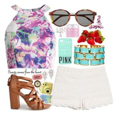 """""""vibrant pastel"""" by amybeckford ❤ liked on Polyvore"""