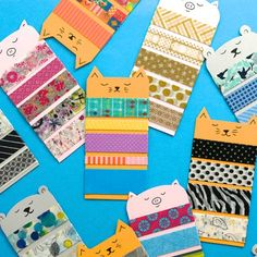 Washi Tape Animal Samplers - Designed to share washi tape designs via snail mail or pocket letters Snail Mail Gifts, Snail Mail Pen Pals, Pen Pal Letters, Pocket Letters, Making Tape, Card Making, Washi Tape Crafts, Paper Crafts, Happy Mail