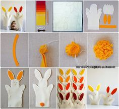 Bunny hand puppets in DIY Craft Projects on FB