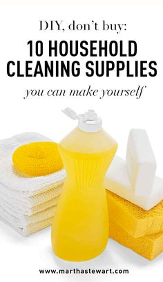 DIY, Don't Buy: 10 Household Cleaning Supplies You Can Make Yourself | Martha Stewart Living - Household cleaners are necessary tools in the battle against grime, but germophobia doesn't come cheap. Purchasing even rudimentary cleaning supplies rapidly becomes costly over time. According to a survey by the Bureau of Labor Statistics, Americans spent an average of $645 per year on housekeeping supplies between 2013 and 2014.