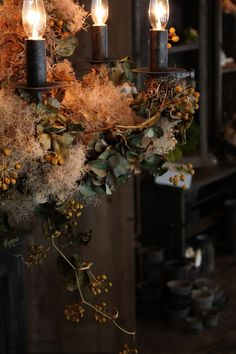 chandelier Fall Flowers, Dried Flowers, Autumn Interior, Flower Installation, Fall Decor, Holiday Decor, Deco Floral, Hanging Flowers, Christmas Mood