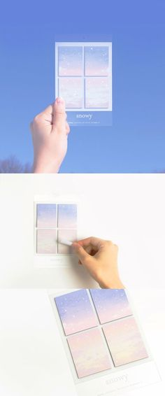 Brrrr~~ It might not be real snow, but these snow themed sticky notes are sooo beautiful!: