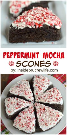 These dark chocolate scones have a coffee twist and a peppermint frosting that will have you wanting more. Perfect holiday morning breakfast!