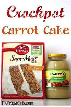 Cake in the Crockpot? 😉 You'll love this Easy Crockpot Carrot Cake… Cake in the Crockpot? 😉 You'll love this Easy Crockpot Carrot Cake… – Slow Cooker Desserts, Crockpot Dessert Recipes, Crock Pot Desserts, Crockpot Dishes, Cake Mix Recipes, Köstliche Desserts, Cooking Recipes, Cooking Pork, Health Desserts