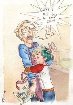 """Draco and Teddy (part 2) by CaptBexx.deviantart.com on @deviantART""-- LOOK AT GIS HAIR TURNING BLONDE HES IMITATING DRACO GAAAAAH"