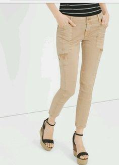 new white house black market women's skinny crop jeans beige size 6  #WhiteHouseBlackMarket #CapriCropped