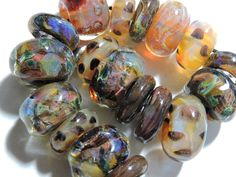 Lampwork Borosilicate Beads WOODLAND Two Sisters Designs 083015B by TwoSistersDesignss on Etsy