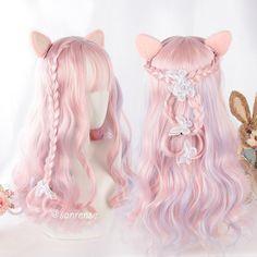 Lolita Cosplay, Cosplay Hair, Cosplay Wigs, Kawaii Cosplay, Pelo Lolita, Lolita Hair, Kawaii Hairstyles, Pretty Hairstyles, Wig Hairstyles