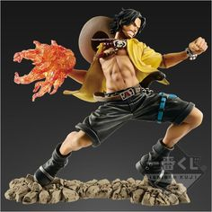 One Piece Portgas D. Ace Last One Ichiban Kuji One Piece Memorial Log Scultures Bandai Spirits - Global Freaks Action Pose Reference, Action Poses, Vinyl Figures, Action Figures, One Piece Figuras, Action Figure One Piece, Moda Pop, Dbz, Cool Poses