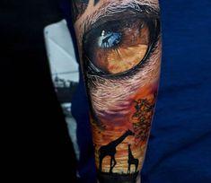 Africa tattoo by Jurgis Mikalauskas