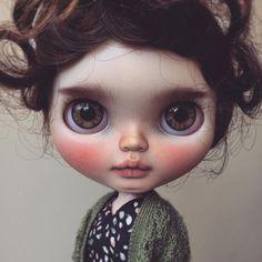Ruby. #puppelinaeyechips #tiinacustom #customblythe