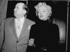 Marilyn during a press conference announcing her divorce from Joe DiMaggio, 1954.